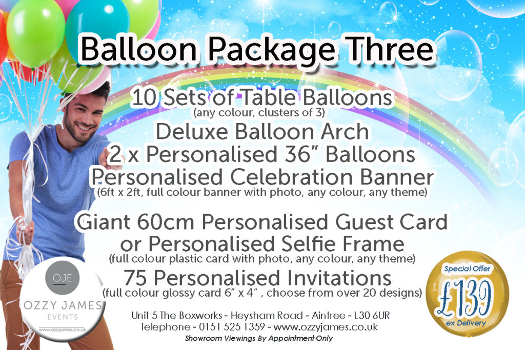 Liverpool Balloon Packages - Party Balloon Packages Merseyside