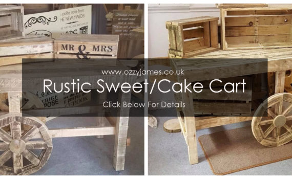 rustic vintage sweet cart vintage rustic wedding cake cart hire