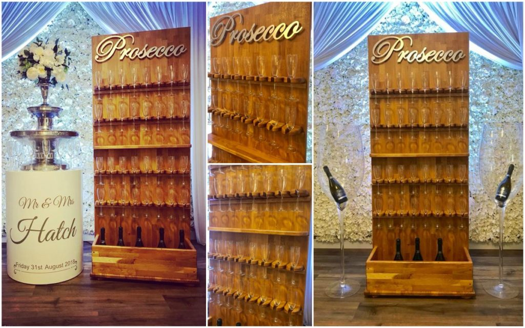 prosecco wall hire liverpool champagne wall hire - Ozzy James Events