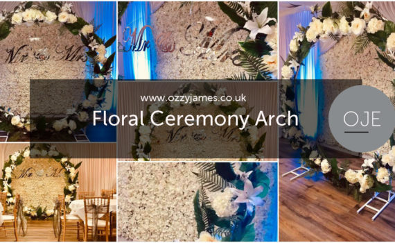 Floral Wedding Ceremony Moon Frame Stand Hire, Floral Wedding Arch Hire