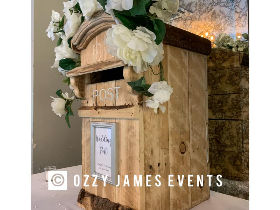 Rustic Wedding Party Postbox Hire, Liverpool, Widnes, Warrington, Wirral, Cheshire - Ozzy James Events