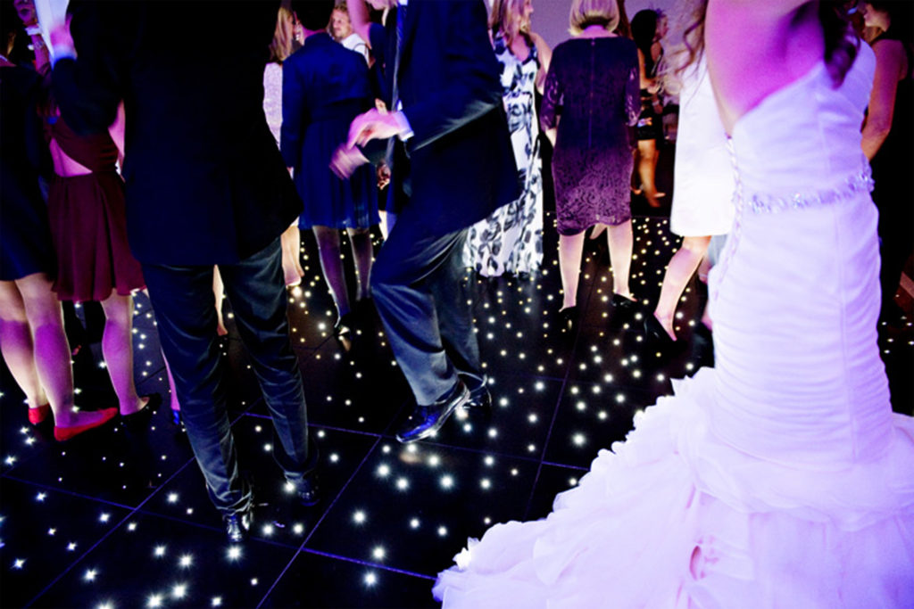 Black led dance floor hire Cheshire Liverpool Wirral Preston Lancashire