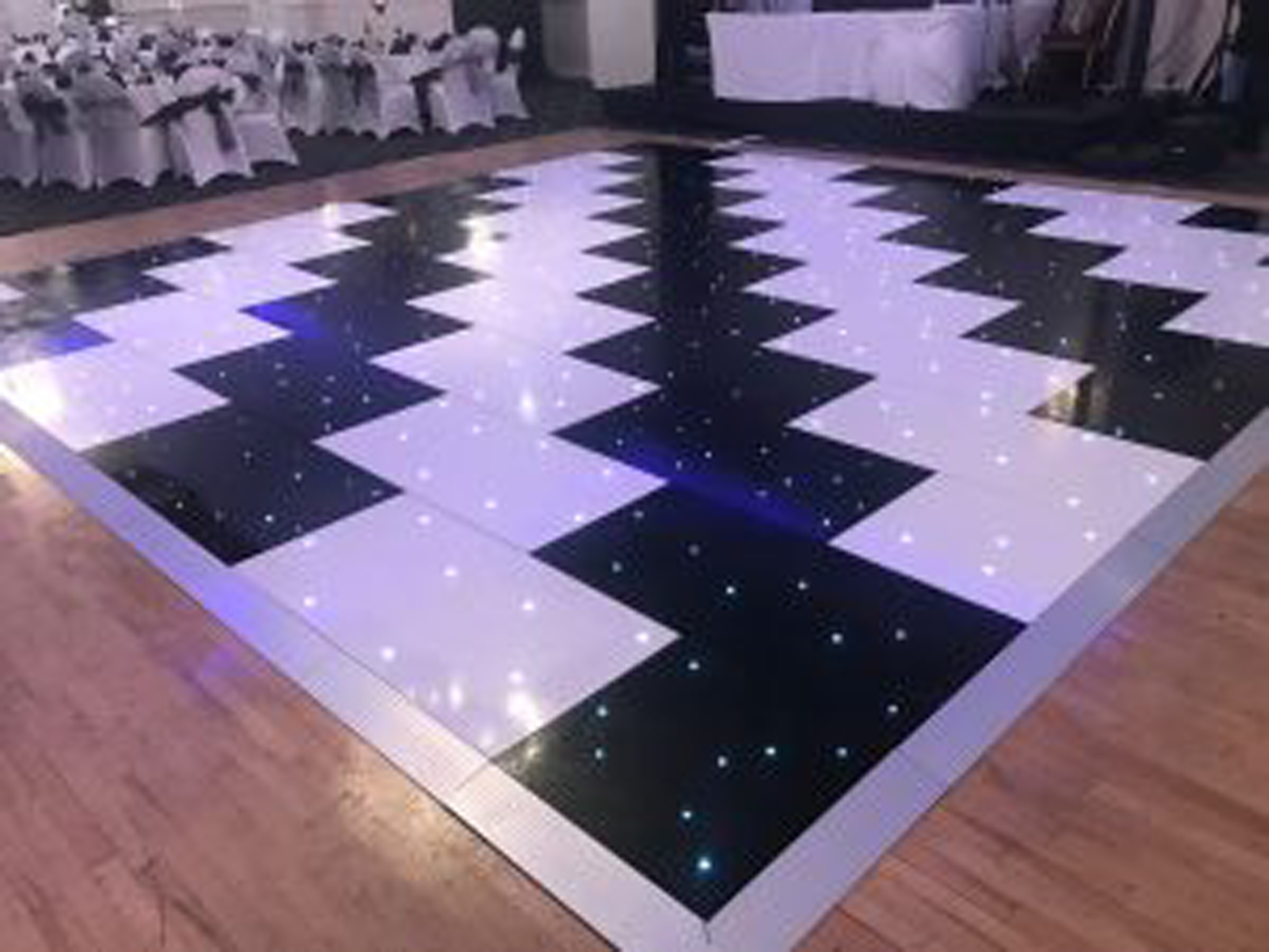 14ft Black LED twinkle dance floor hire Liverpool Cheshire Warrington Wirral