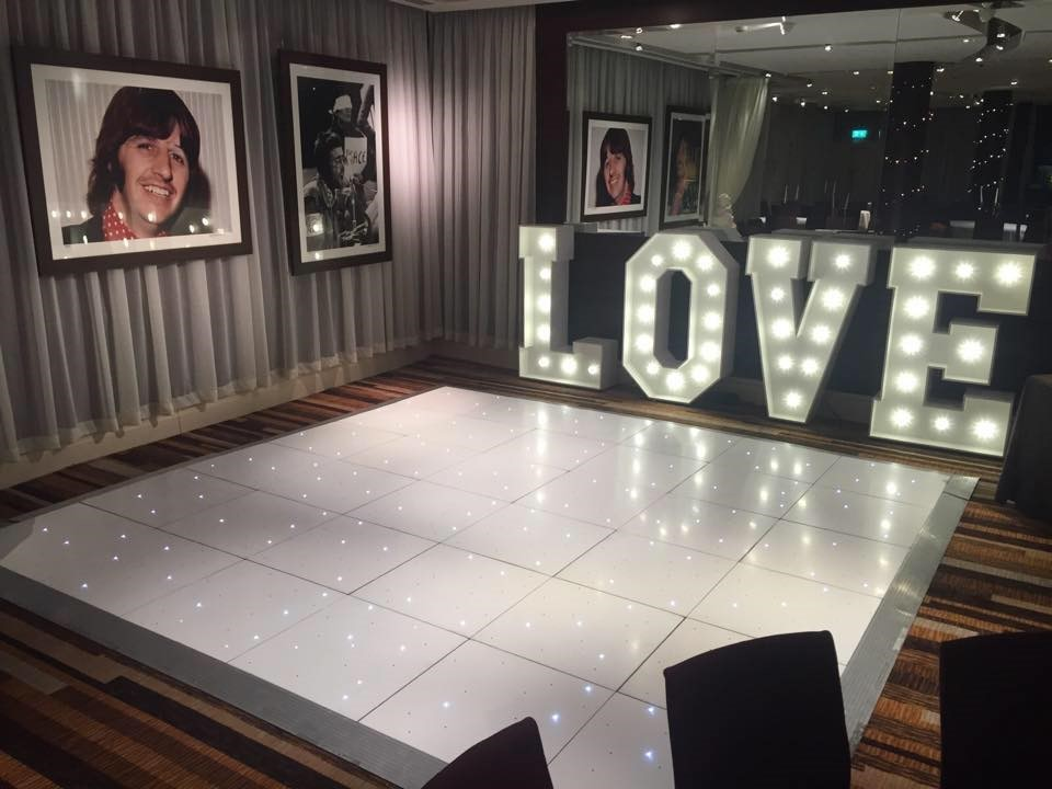 White LED Starlite Dance Floor Hire - Liverpool, Warrington, Wirral, Widnes, Cheshire, Manchester - Ozzy James Events