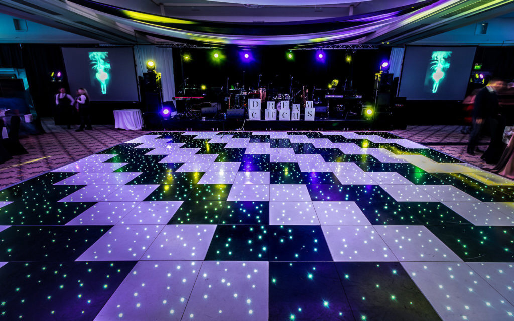 Black LED Starlit Dance Floor Hire - Liverpool, Warrington, Wirral, Widnes, Cheshire, Preston - Ozzy James Events