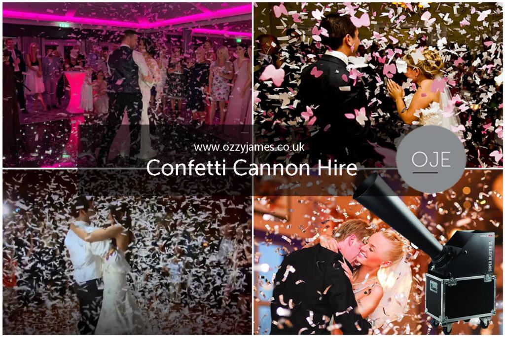 Confetti Cannon Hire, Liverpool, Wirral, Cheshire, Warrington - Ozzy James Events