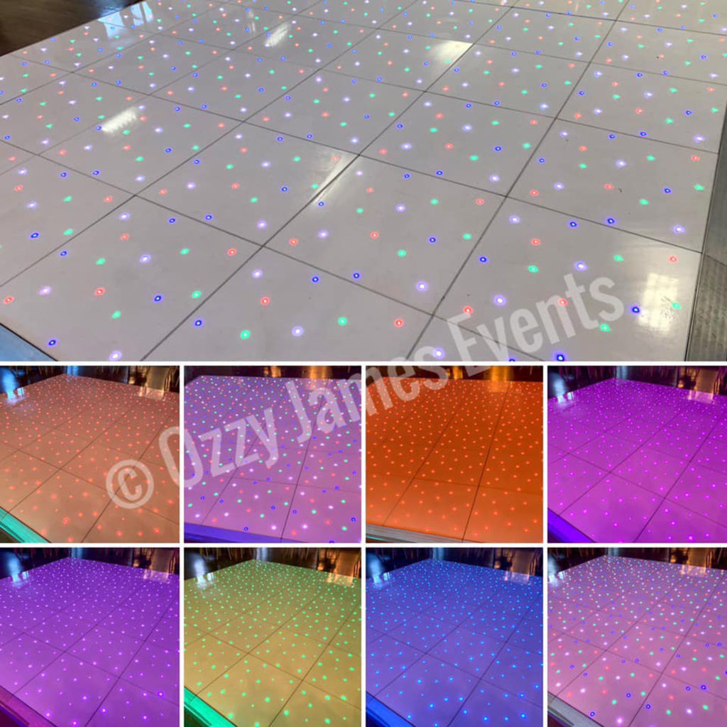 RGB Coloured LED Dance Floor Hire In Liverpool, Wirral, Warrington, Widnes, Manchester - Ozzy James Events