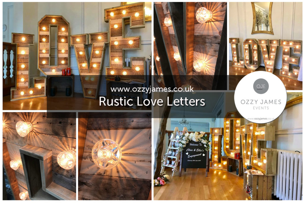 Rustic Love Letters Wedding Sign Hire, Liverpool, Wirral, Cheshire, Warrington, Widnes, Wales - Ozzy James Events