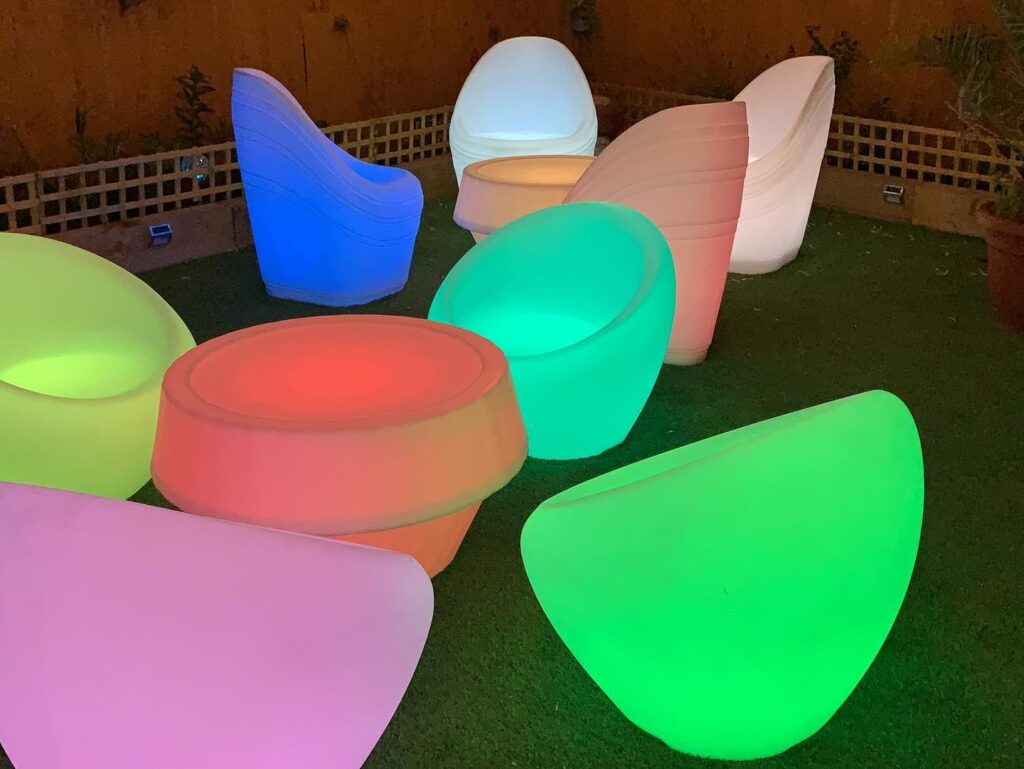 LED glow light up bar table hire liverpool wirral warrington widnes party hire liverpool