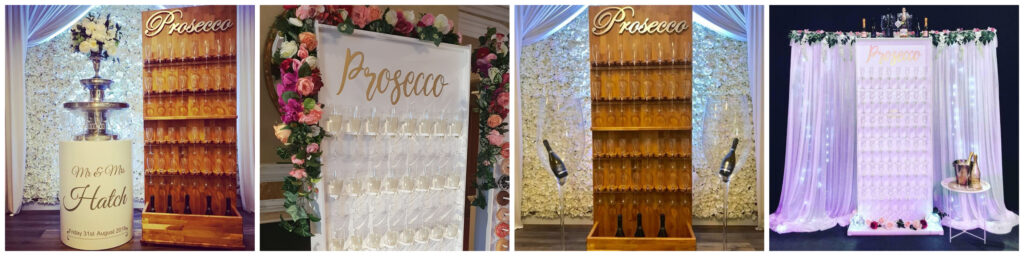 prosecco wall champagne wall hire liverpool wirral widnes warrington party hire liverpool