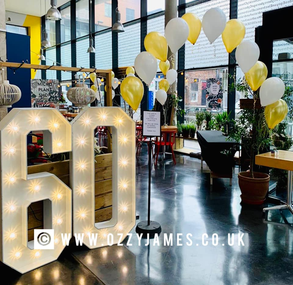 5ft LED numbers for hire in liverpool wirral warrington widnes kirkby speke manchester