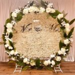 floral wedding ceremony moongate backdrop hire in Liverpool, wirral, Warrington, Cheshire and Lancashire