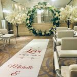 Wedding ceremony floral backdrop wedding party hire in Liverpool, Wirral, Cheshire, Lancashire & Warrington