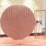 velvet circle moongate baby shower wedding personalised backdrop wedding party hire in Liverpool, Cheshire, Wirral, Southport, Lancashire