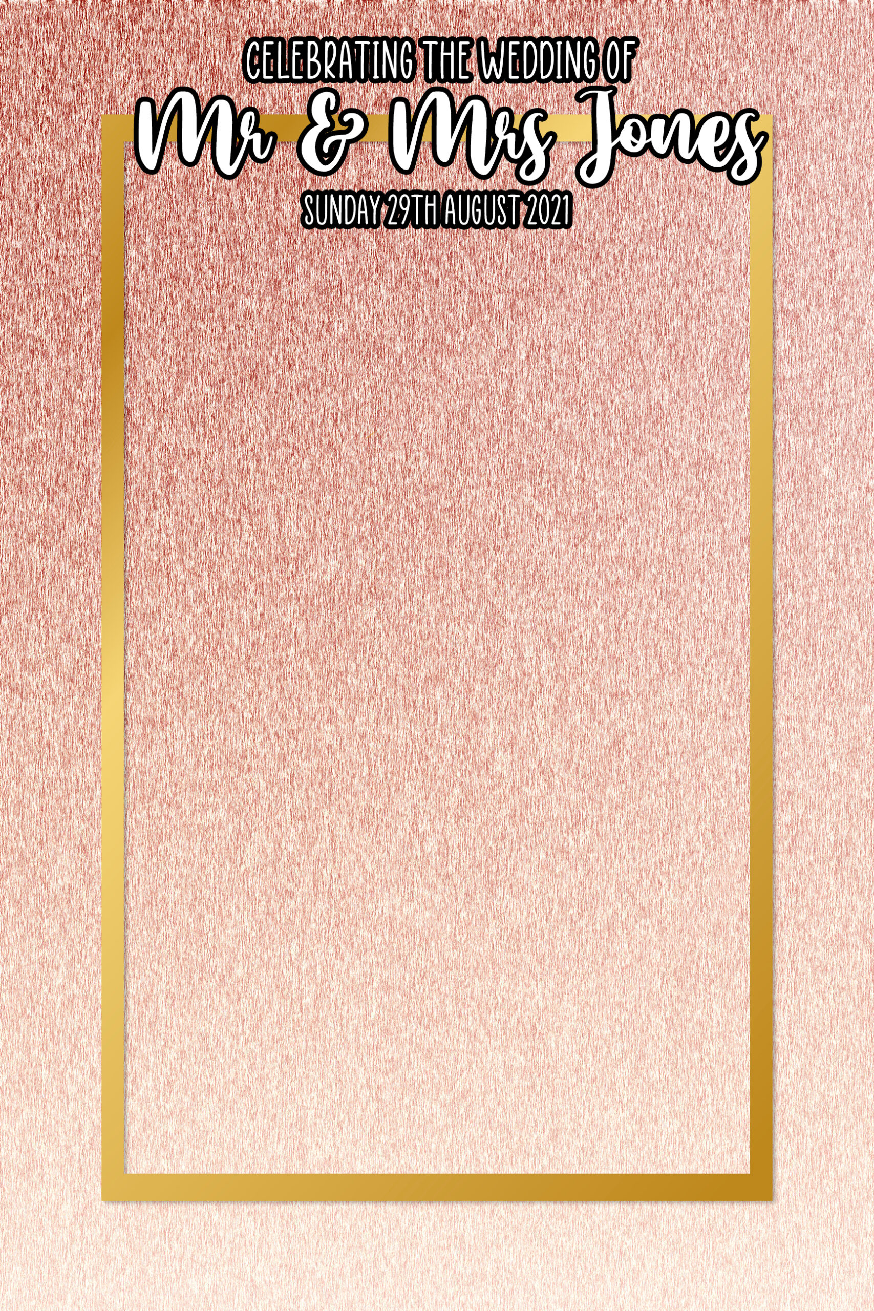 roise gold mirror template