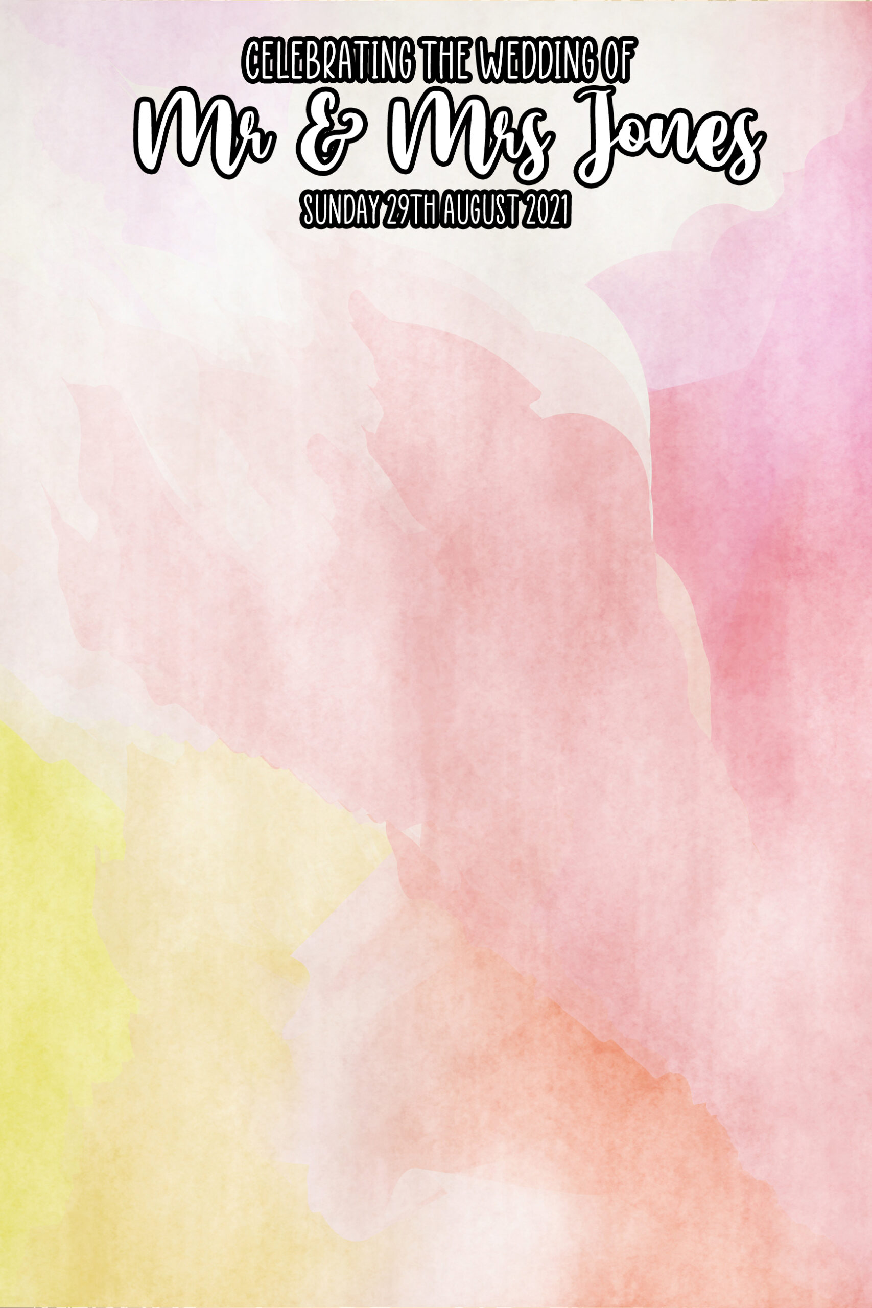 water colour mirror template