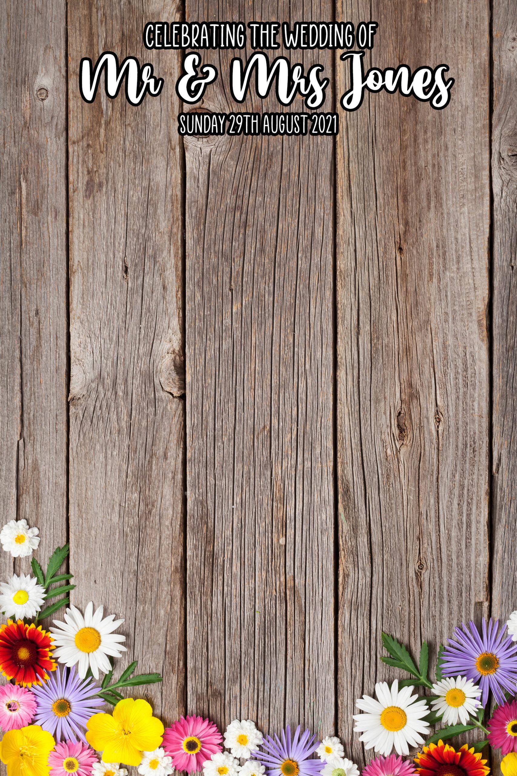wooden flower mirror template